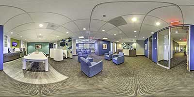 Interactive Panoramic Virtual Tour of Triton Towers Three Renton office space available now in zip 98057 in Renton