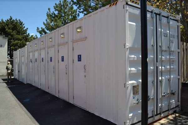 Storage containers exterior