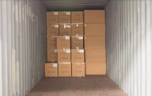 Storage containers interior
